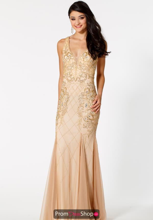 Sean Long Beaded Dress 51064