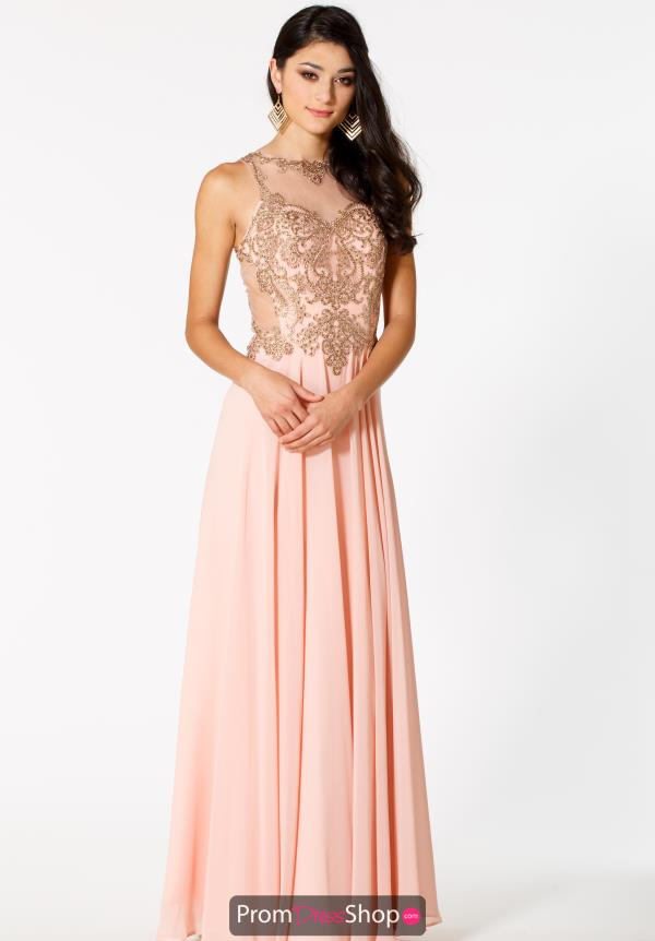 Sean High Neckline Beaded Dress 51085