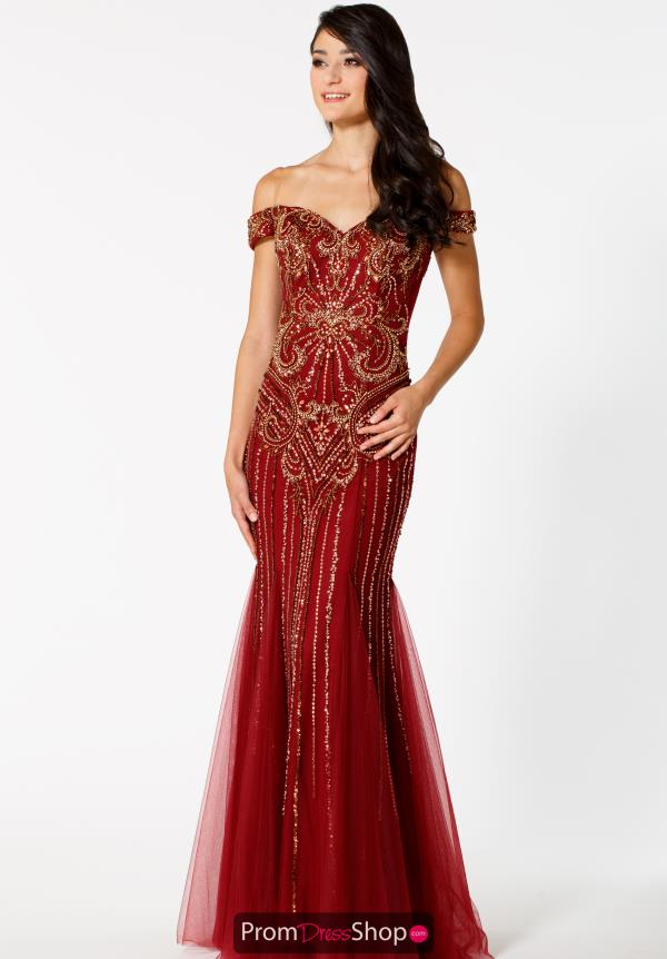 Sean Cap Sleeved Beaded Dress 51088