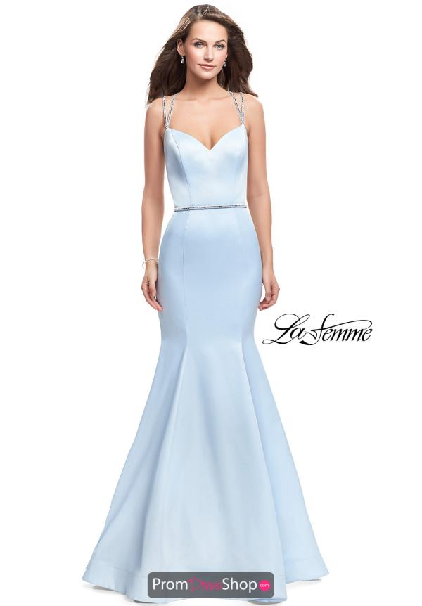 La Femme Long Fitted Dress 25711