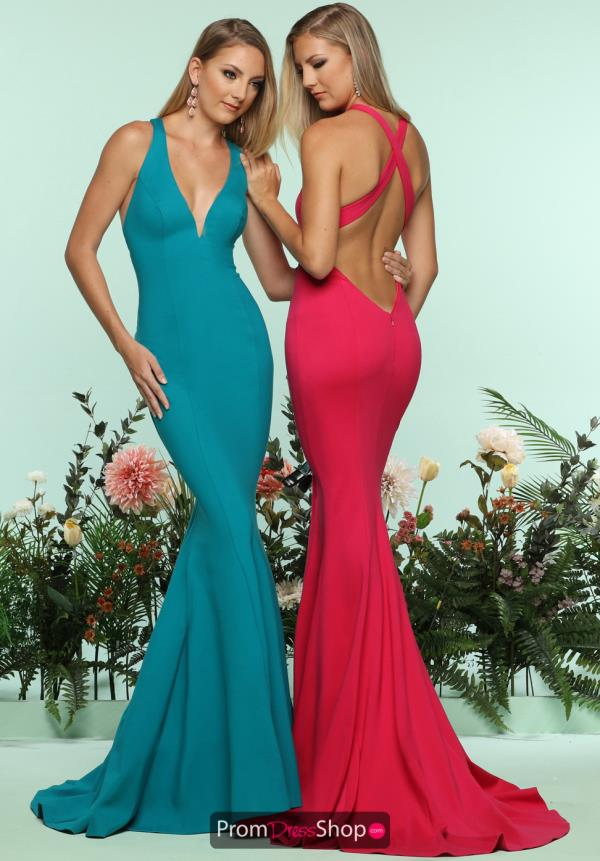 Zoey Grey Open Back Long Dress 31131