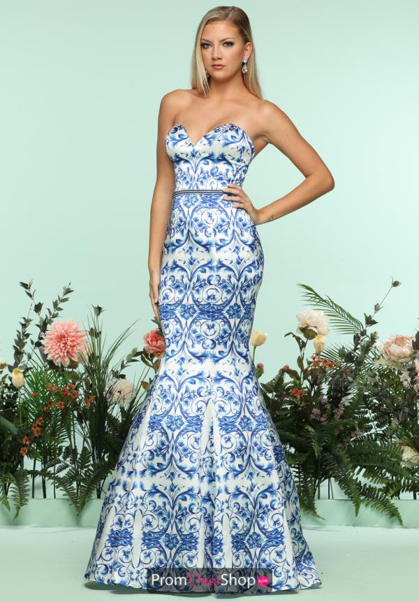 Zoey Grey Beaded Long Dress 31206