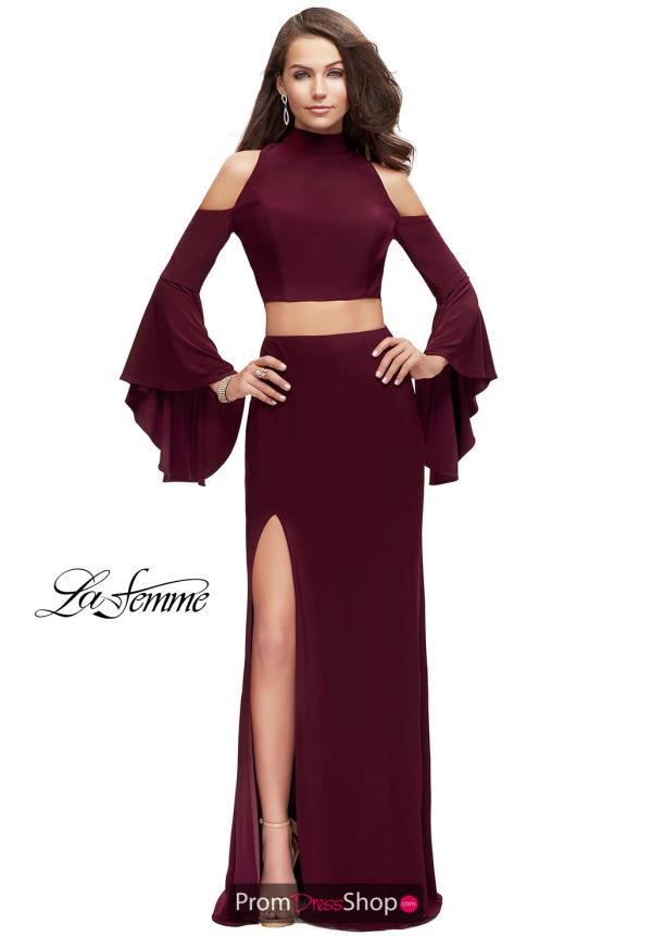 La Femme Jersey Two Piece Dress 25353