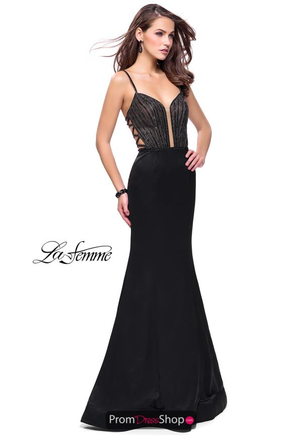 La Femme Sexy Back Long Dress 24691