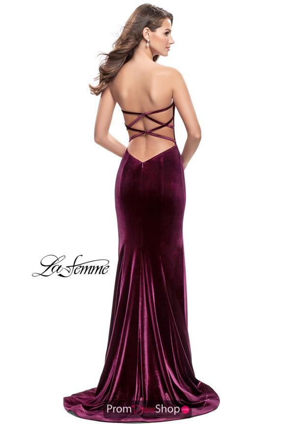 La Femme Sexy Back Fitted Dress 25158