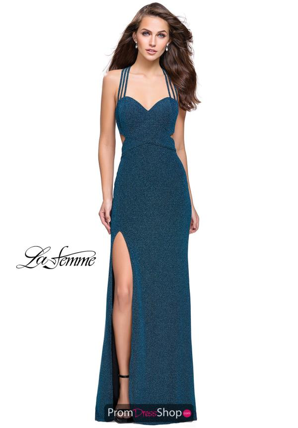 La Femme Sexy Back Fitted Dress 25258