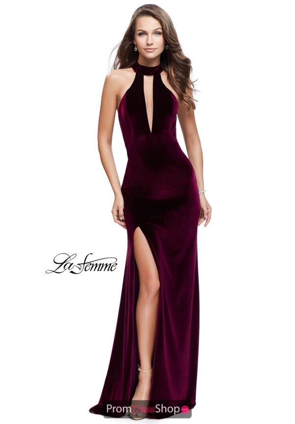 La Femme Fitted Long Dress 25292
