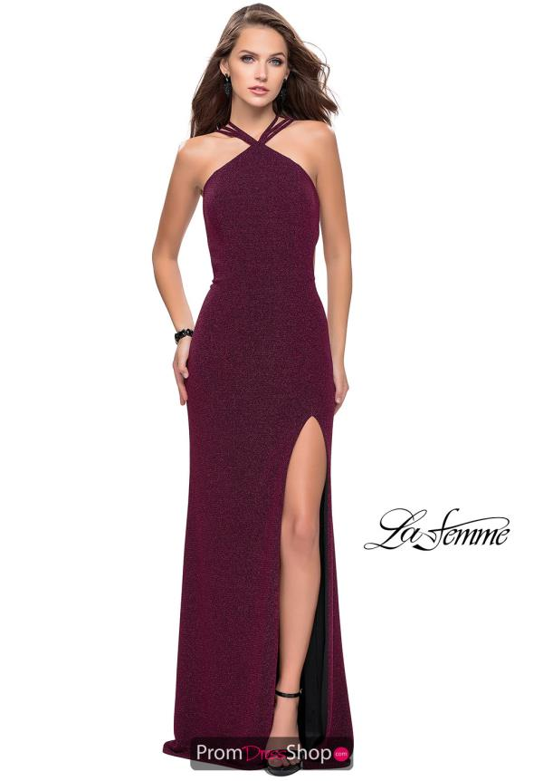 La Femme Sexy Back Fitted Dress 25346