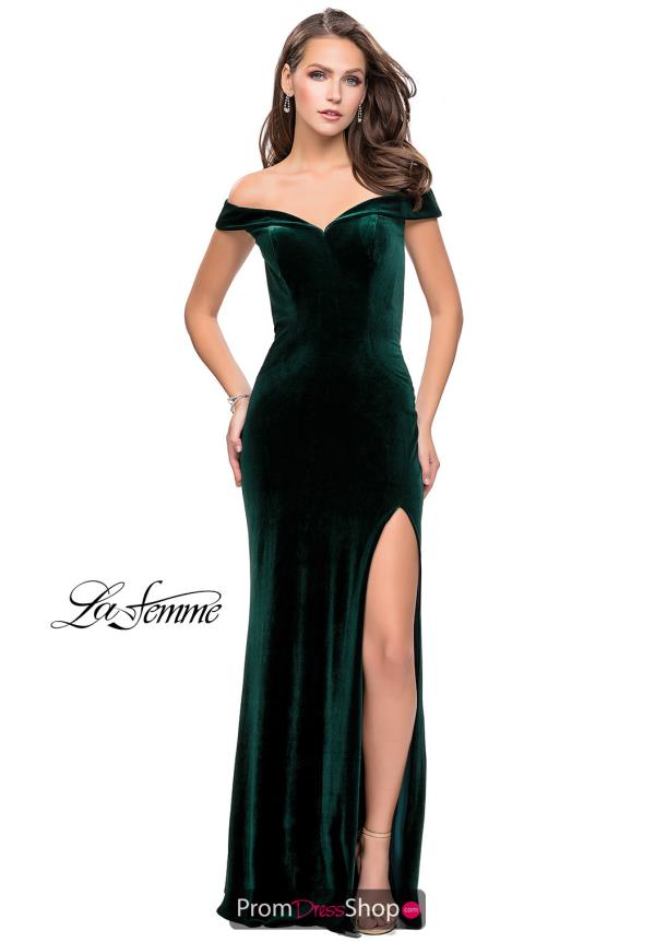 La Femme Cap Sleeve Fitted Dress 25400