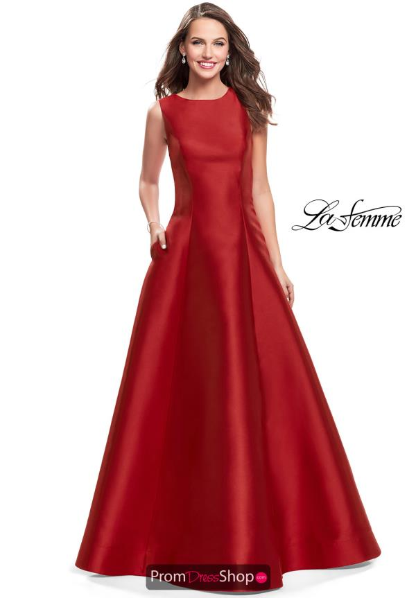 La Femme Open Back Long Dress 25425