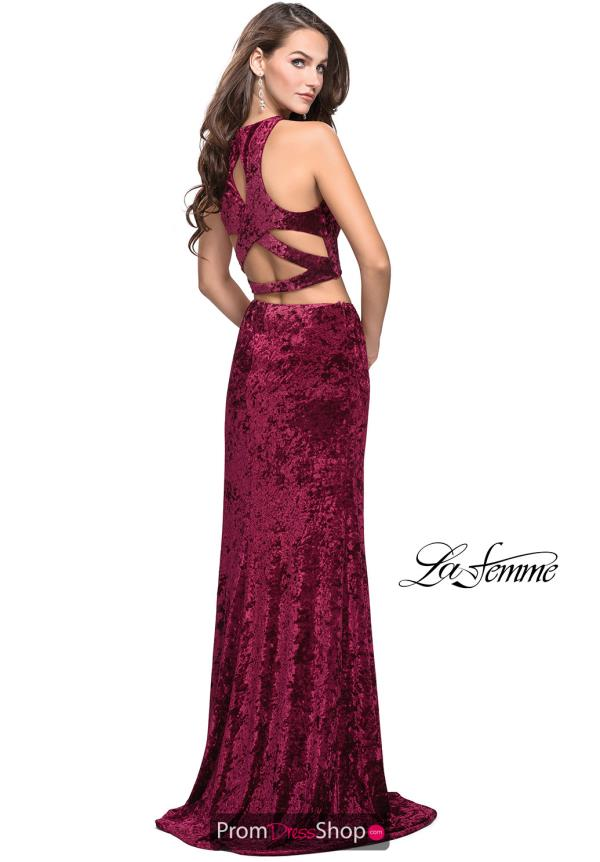 La Femme Velvet Fitted Dress 25431