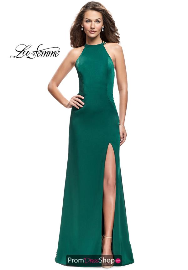 La Femme Sexy Back Long Dress 25439