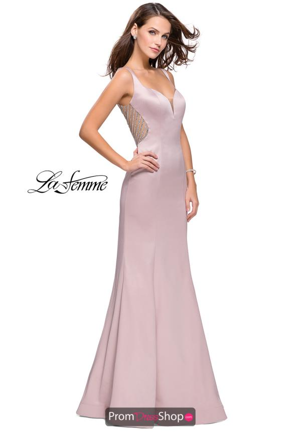 La Femme Mermaid Beaded Dress 25454