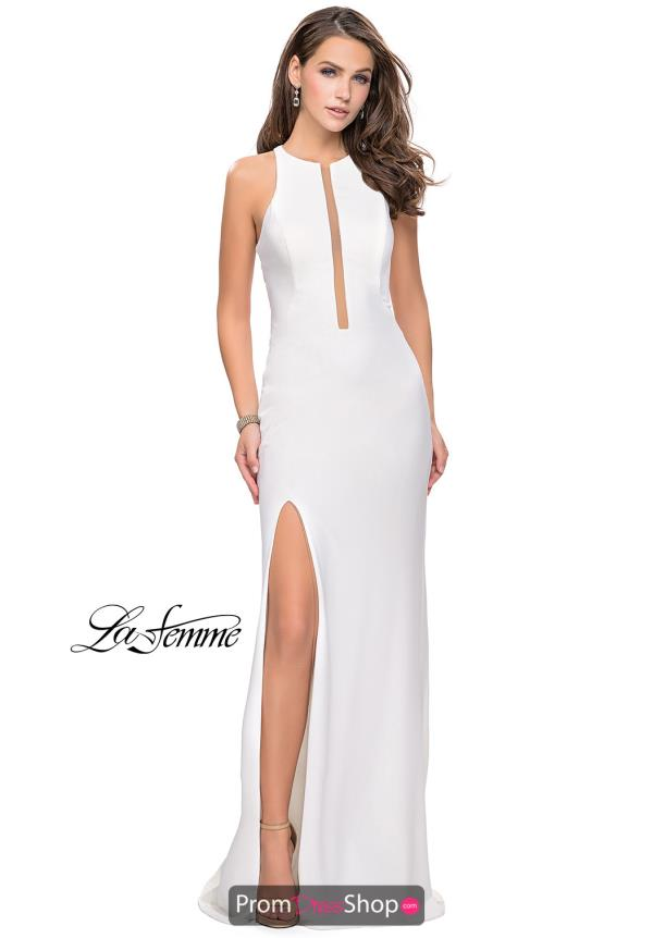 La Femme High Neckline Fitted Dress 25477