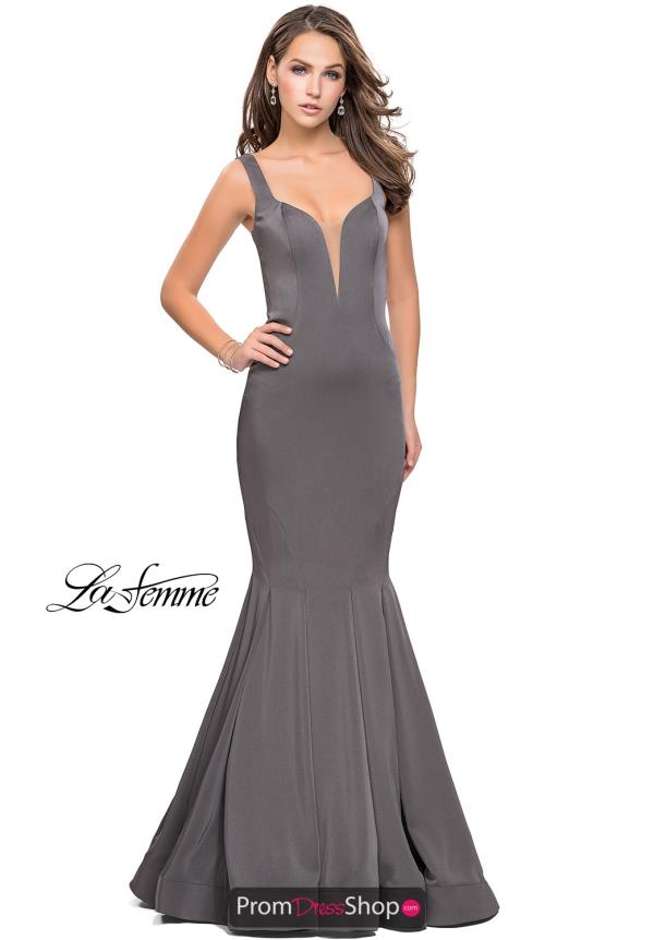 La Femme Open Back Mermaid Dress 25485