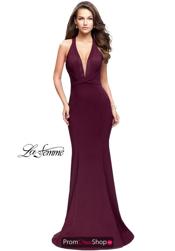 La Femme Sexy Back Fitted Dress 25503