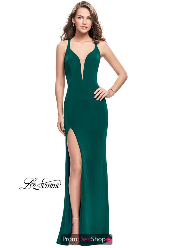 La Femme Jersey Long Dress 25504