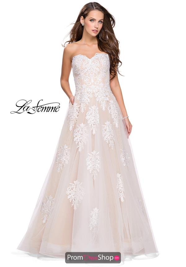 La Femme Beaded Tulle Dress 25560