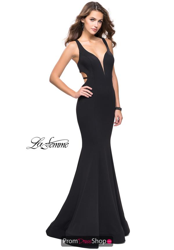 La Femme Sexy Back Fitted Dress 25594