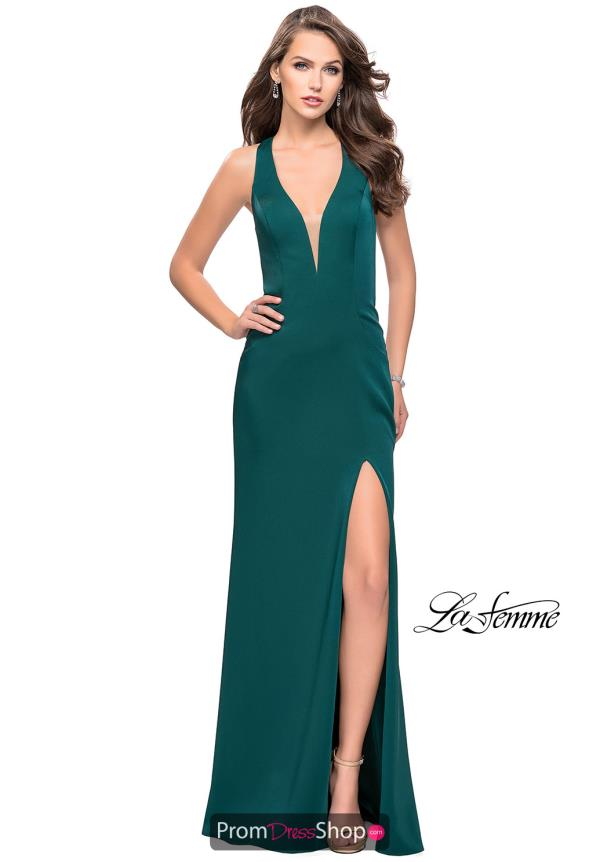 La Femme Fitted Long Dress 25612