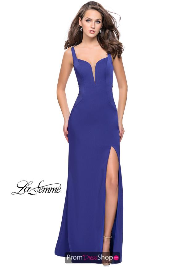 La Femme Jersey Beaded Dress 25623