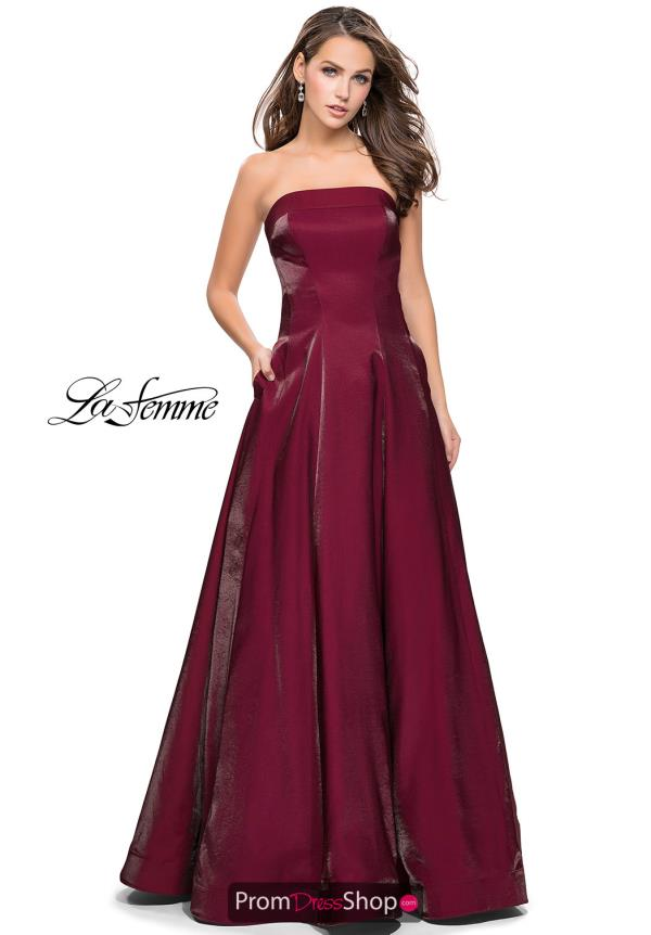 La Femme Long A Line Dress 25638