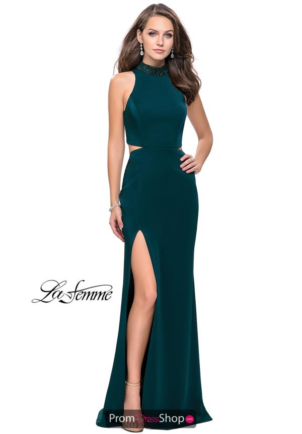 La Femme Long Jersey Dress 25641