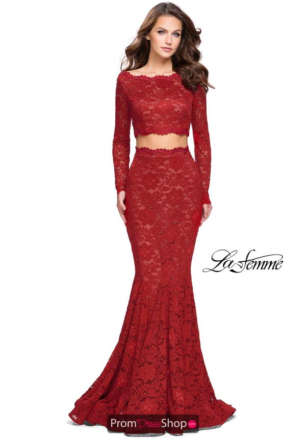 La Femme Long Sleeved Fitted Dress 25668