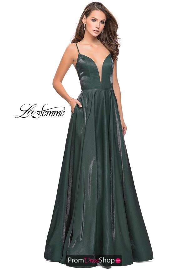 La Femme Long A Line Dress 25670
