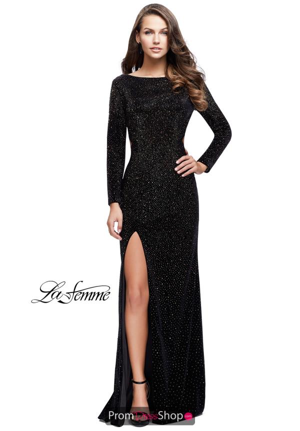 La Femme Long Sleeved Dress 25727