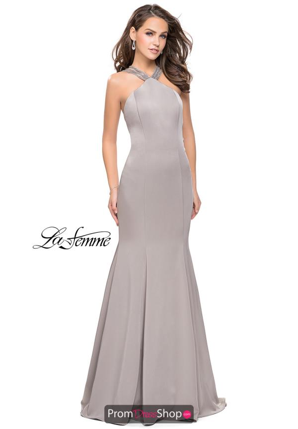 La Femme Long Jersey Dress 25763