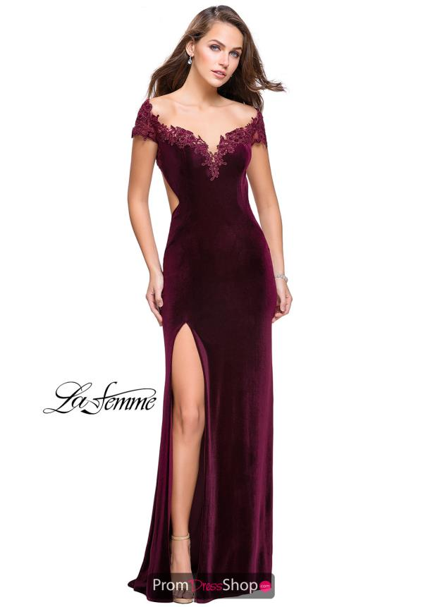 La Femme Cap Sleeved Fitted Dress 25823