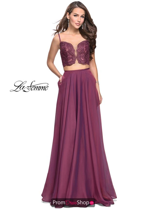 La Femme Long A Line Dress 25830