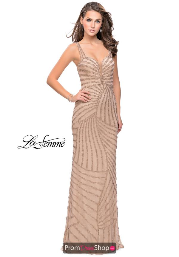 La Femme Fitted Long Dress 25873