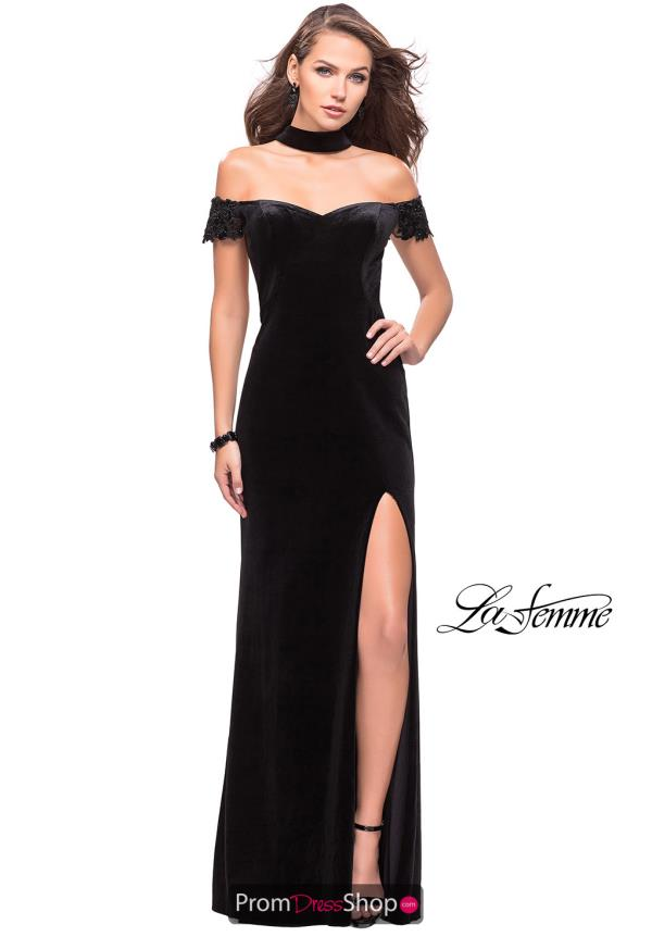 La Femme Cap Sleeved Fitted Dress 25937