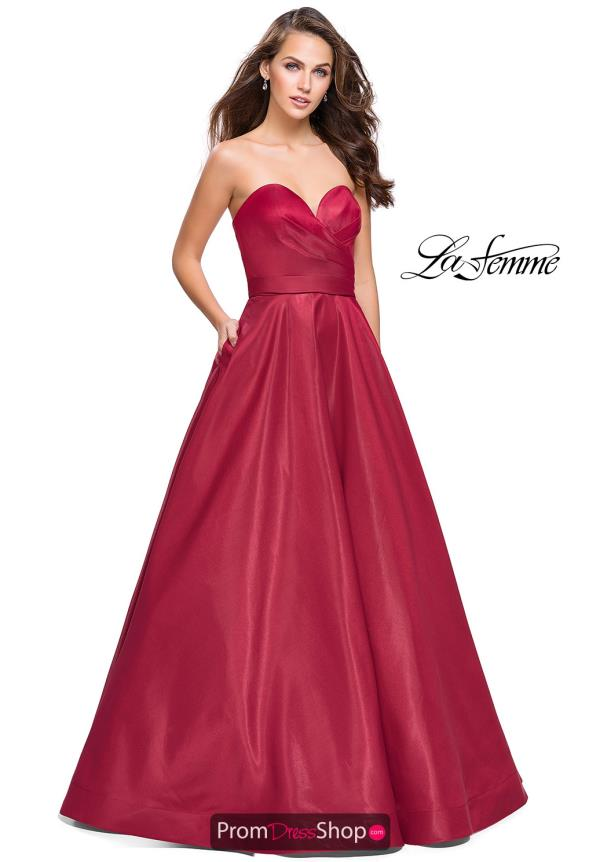 La Femme Long A Line Dress 25953