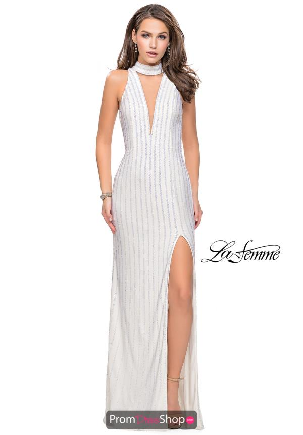 La Femme Long Jersey Dress 25967