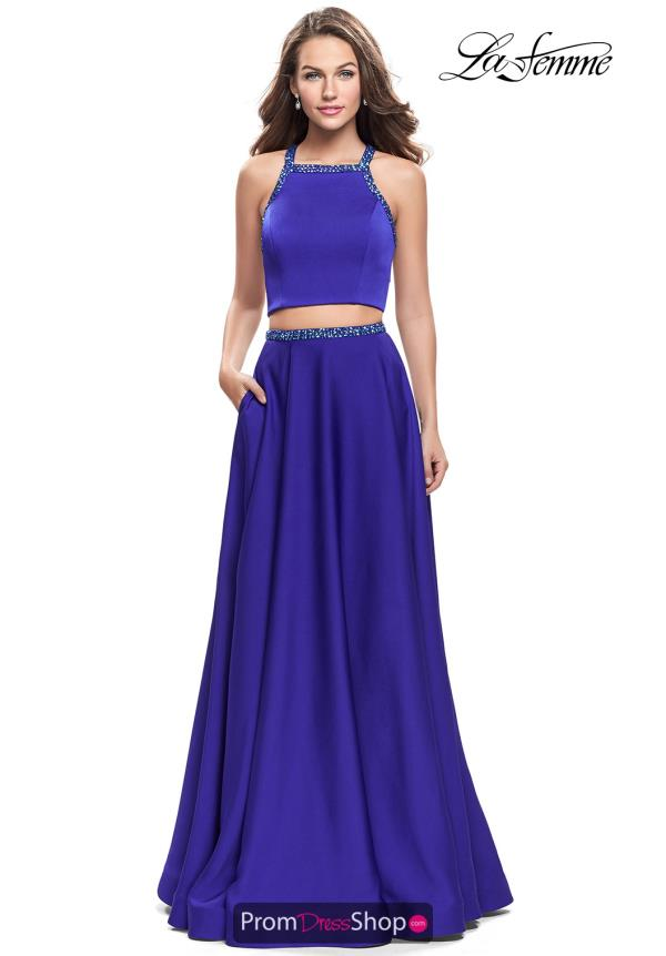 La Femme Long A Line Dress 25978