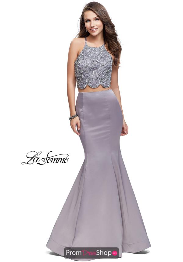 La Femme Two Piece Fitted Dress 26035