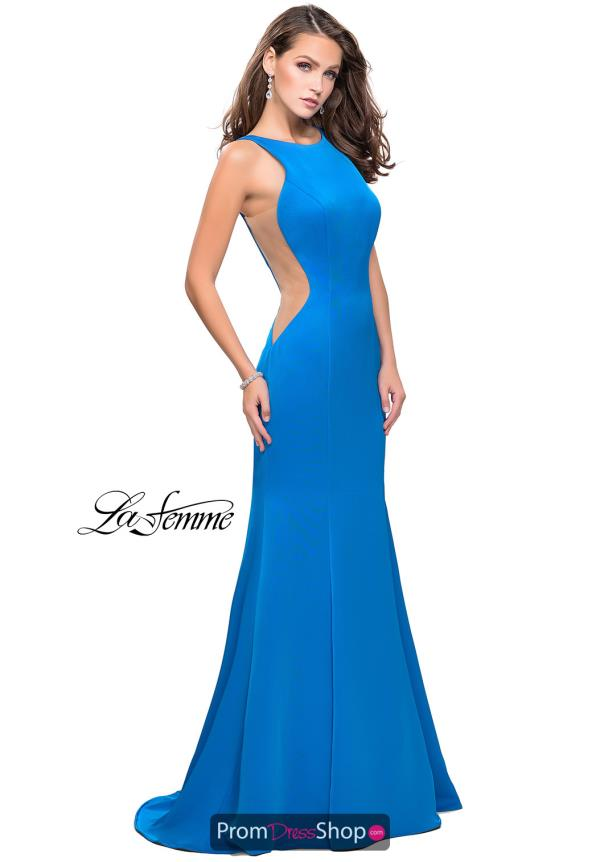La Femme Long Fitted Dress 26076