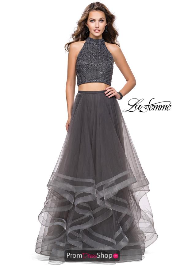 La Femme Tulle Skirt A Line Dress 26077