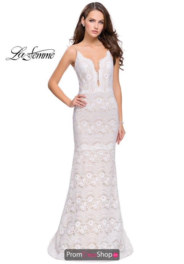 La Femme Fitted Long Dress 26106
