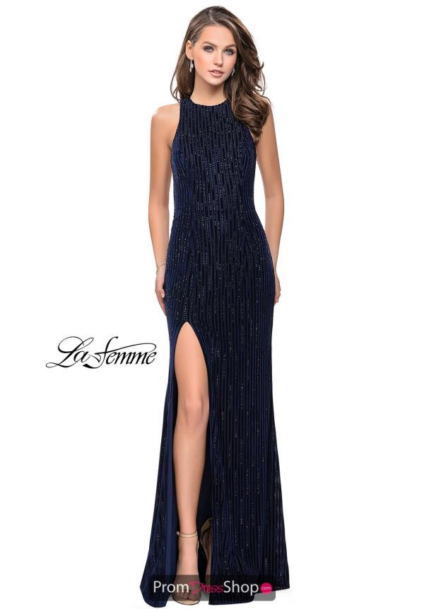 La Femme Long Beaded Dress 26116