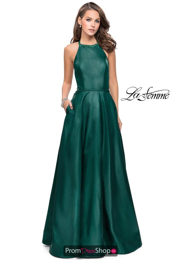 La Femme Long A Line Dress 26162