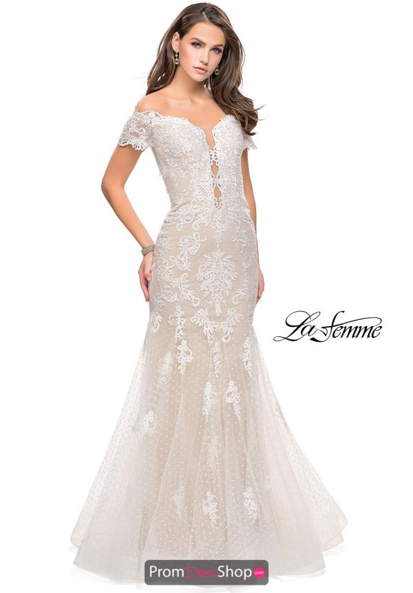 La Femme Lace Mermaid Dress 26192