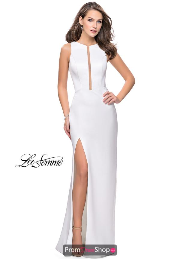 La Femme Long Fitted Dress 26235