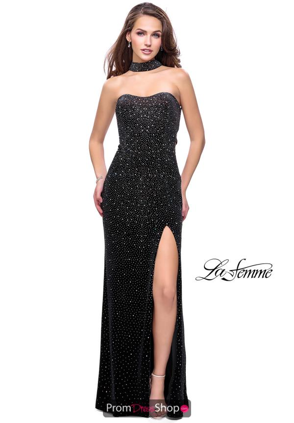 La Femme Long Beaded Dress 26239