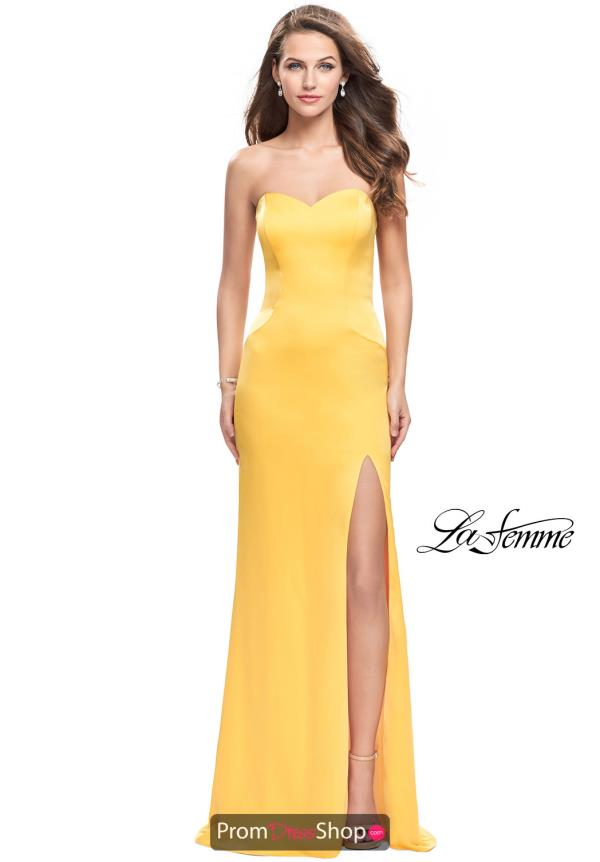 La Femme Fitted Long Dress 26253