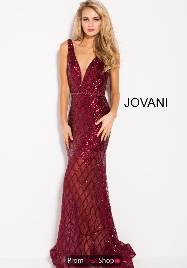 Jovani V- Neckline Fitted Dress 59186