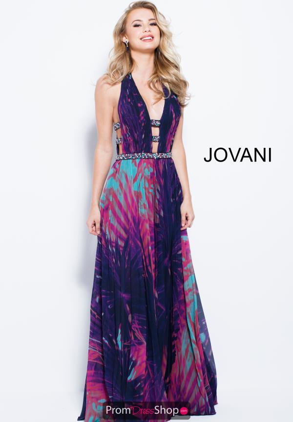 Jovani V- Neckline A Line Dress 59453